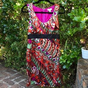 Saja printed silk dress sz 2